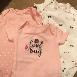 3 Carters Onesies Size 3 Months. Like new.
